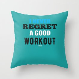 Gym Fitness Workout saying gift Throw Pillow