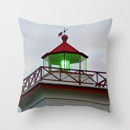 Green Lantern of Wood Islands Throw Pillow