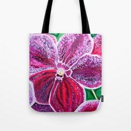 Purple Orchid Bloom Tote Bag