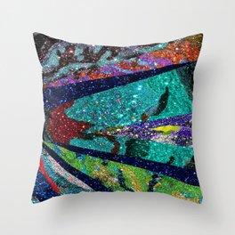 Peacock Mermaid Battlestar Galactica Abstract Throw Pillow