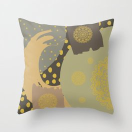 The Solar Storm is Coming Throw Pillow