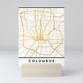 COLUMBUS OHIO CITY STREET MAP ART Mini Art Print