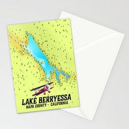 Lake Berryessa, Napa County, California travel poster Stationery Cards