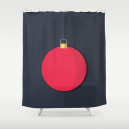 Christmas Globe - Illustration Shower Curtain