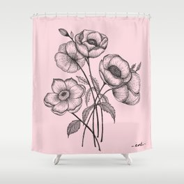 Palid Flowers  Shower Curtain
