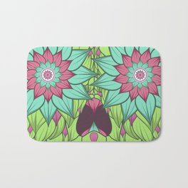 Skull with a floral style Bath Mat