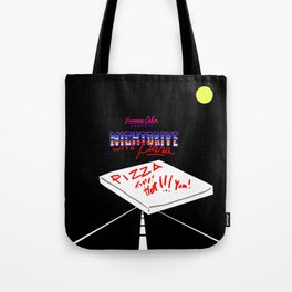 Nightdrive with Pizza Tote Bag