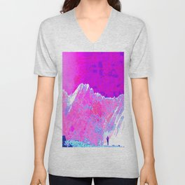 Alpenglow in Violet Unisex V-Neck