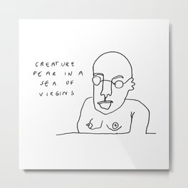 Creature Fear Metal Print