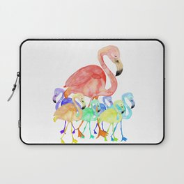 Family of Flamingos Watercolor Laptop Sleeve