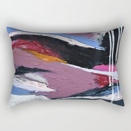 Ebb and Flow:  vibrant, minimal abstract piece in various colors by Alyssa Hamilton Art Rectangular Pillow