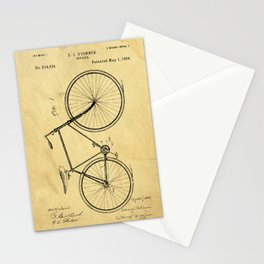 Bicyole Support Patent Drawing From 1894 Stationery Cards