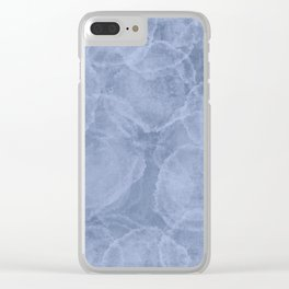 Distressed Blue Blotches Clear iPhone Case