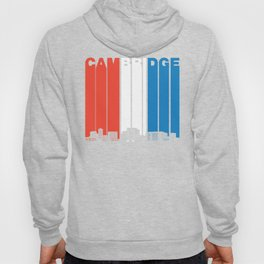 Red White And Blue Cambridge Massachusetts Skyline Hoody