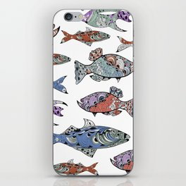 A very fishy tale iPhone Skin