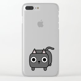 Cat Loaf - Grey Kitty Clear iPhone Case