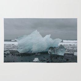 Diamond Beach, Merritt Island, Iceland Rug