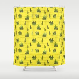 Sand and cactus bring back Summer Shower Curtain