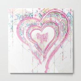Guard Your Heart Metal Print