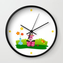 La jirafa Margarita Wall Clock