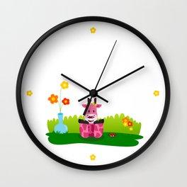 La jirafa Margarita Wall Clock