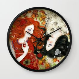 Snow White and Rose Red Wall Clock