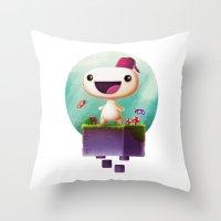 selena gomez Throw Pillows featuring Gomez by Gazulo Marquez