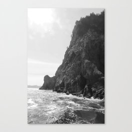 Sea Level Black and White Canvas Print