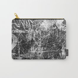 black abstract mono graffiti texture pattern Carry-All Pouch