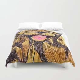 Happy otter Duvet Cover