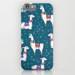 Watercolor llamas iPhone Case