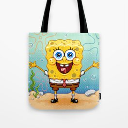 Spongebob Pixel Art Tote Bag