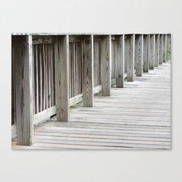 Wood Bridge Canvas Print