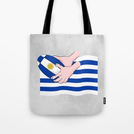Uruguay Rugby Flag Tote Bag