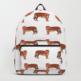 Tigers orange and purple clemson football fan varsity university college athletics Backpack