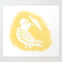 Fancy Pigeon Art Print