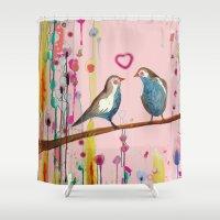 et Shower Curtains featuring valentine et valentin by sylvie demers