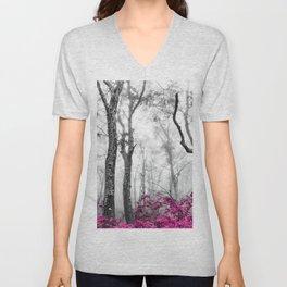 Princess Pink Forest Garden Unisex V-Neck