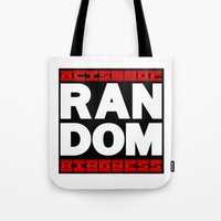 random Tote Bags featuring RANDOM by PsychoBudgie