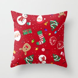 Happy New Year Theme Pattern Throw Pillow