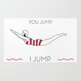 You Jump I jump Vintage swimmer Rug
