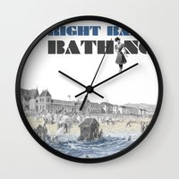 Right bank bathing Wall Clock