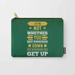 Lab No.4 - It's Not Whether You Get Knocked Down Inspirational Quotes Poster Carry-All Pouch