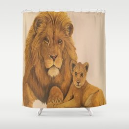 fathers love and pride Shower Curtain