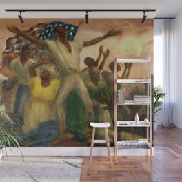 """African American Classical Masterpiece """"Freeing of the Slaves"""" by John Steuart Curry Wall Mural"""