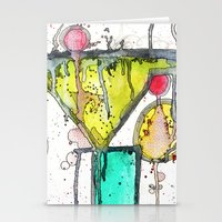 martini Stationery Cards featuring Dirty Martini by Ingrid Padilla