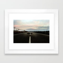On the Road.... Framed Art Print