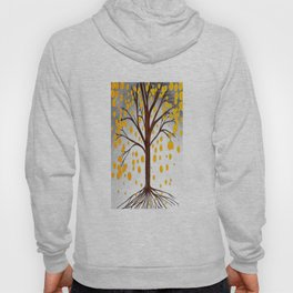 Tree Art Green and Yellow by Saribelle Hoody