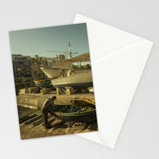 St Julian's golden boats Stationery Cards