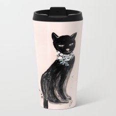 Spoiled Kitty Lifestyle Illustration Metal Travel Mug